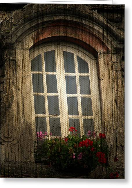 As She Waits Greeting Card by Jerry Cordeiro