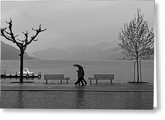 Ascona With Rain Greeting Card