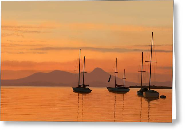 At Anchor Greeting Card by Tim Stringer