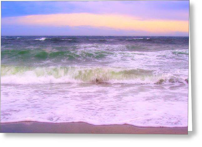 At The Seashore Greeting Card by Marilyn Wilson