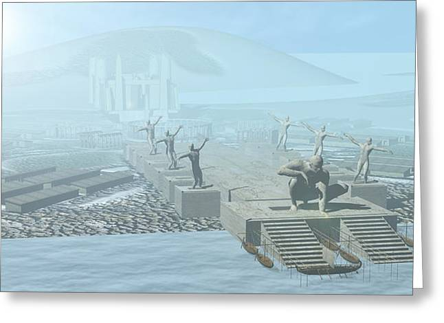 Atlantis Greeting Card by Christian Darkin