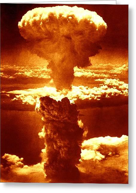 Atomic Burst Over Nagasaki, 1945 Greeting Card