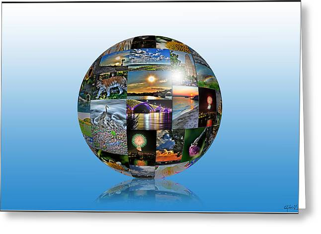 Attractions In Buffalo Ny And Surrounding Areas Greeting Card by Michael Frank Jr