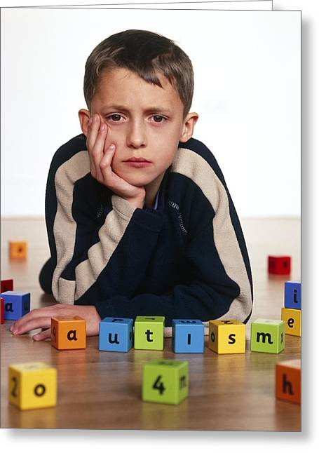 Autistic Boy Greeting Card by Kevin Curtis