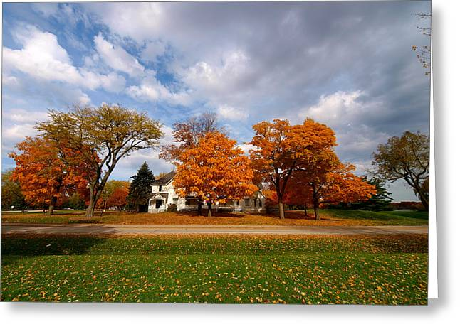 Autumn Is Colorful Greeting Card by Paul Ge