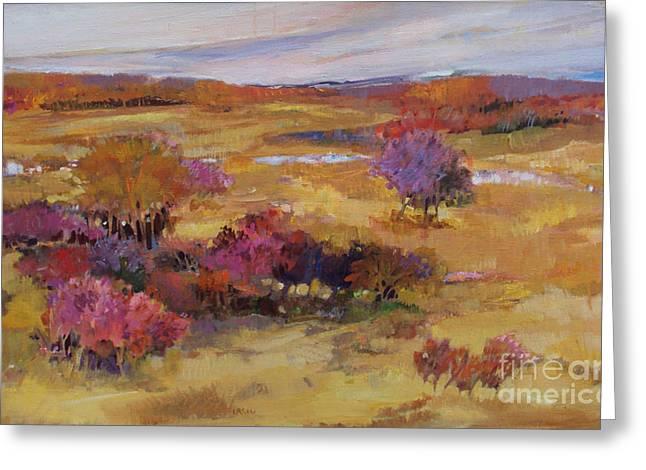 Autumn Land Greeting Card by Diane Ursin