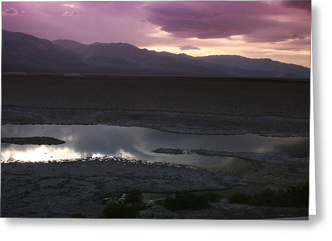 Badwater Basin Death Valley National Park Greeting Card