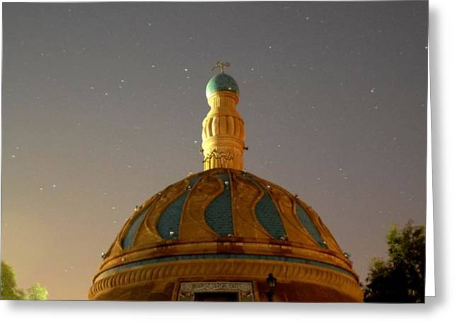 Baghdad Mosque Greeting Card by Rick Frost