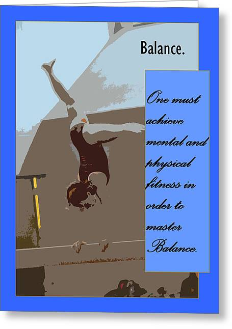 Balance Greeting Card by Peter  McIntosh