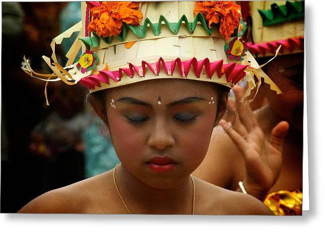 Balinese Dancer Greeting Card by Ari Saaski