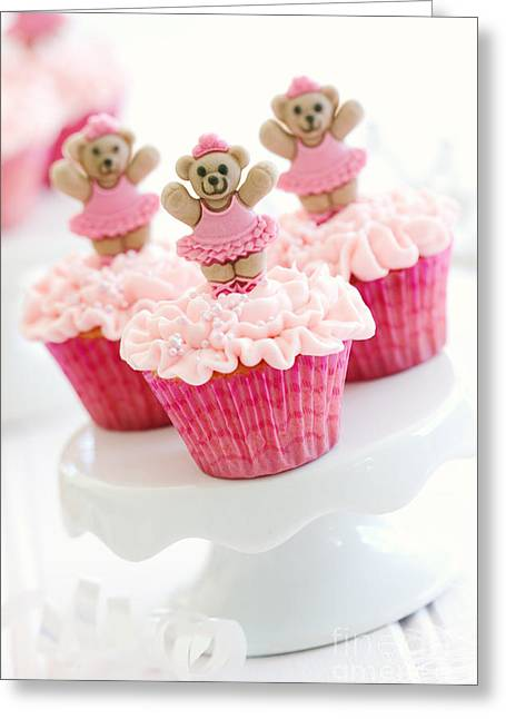 Ballerina Cupcakes Greeting Card by Ruth Black