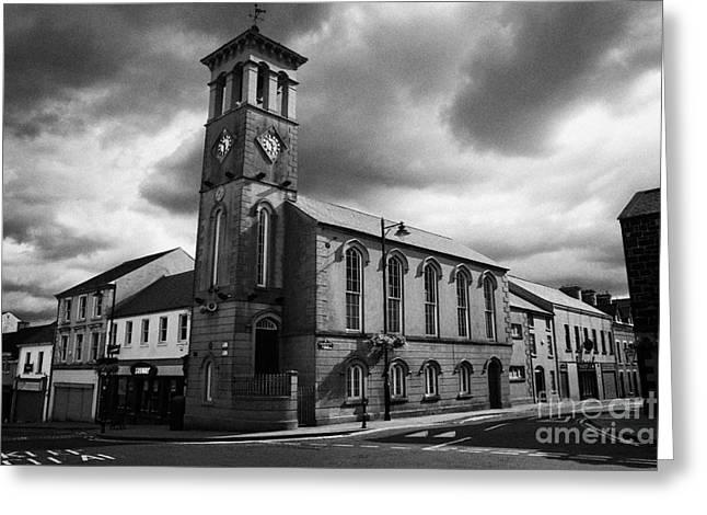 Ballymoney Town Clock Tower And Masonic Hall County Antrim Northern Ireland  Greeting Card by Joe Fox