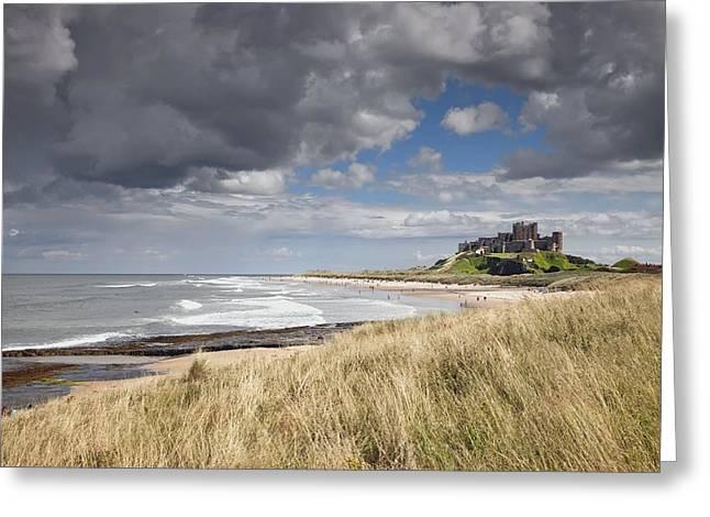 Bamburgh Castle Northumberland, England Greeting Card by John Short