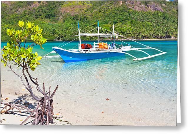 Bangka Boat Greeting Card by MotHaiBaPhoto Prints