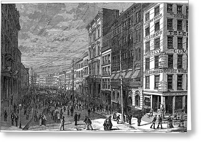 Bank Panic, 1873 Greeting Card by Granger