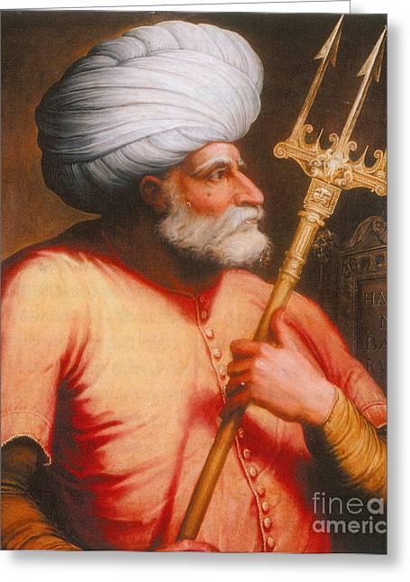 Barbarossa, Ottoman Turkish Admiral Greeting Card