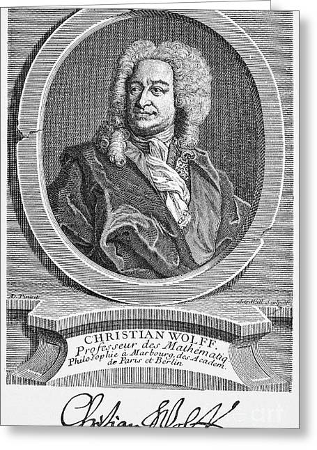 Baron Christian Von Wolff Greeting Card by Granger