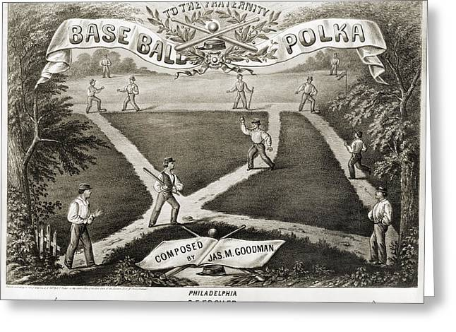 Baseball Polka, 1867 Greeting Card by Granger