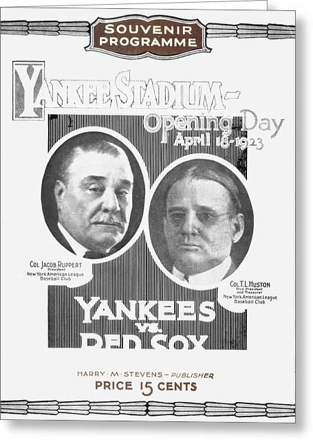 Baseball Program, 1923 Greeting Card by Granger