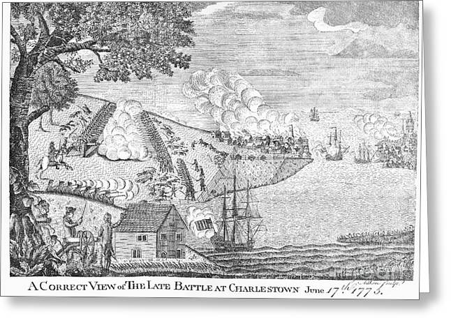 Battle Of Bunker Hill, 1775 Greeting Card
