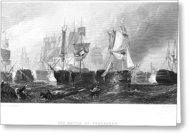 Battle Of Trafalgar, 1805 Greeting Card