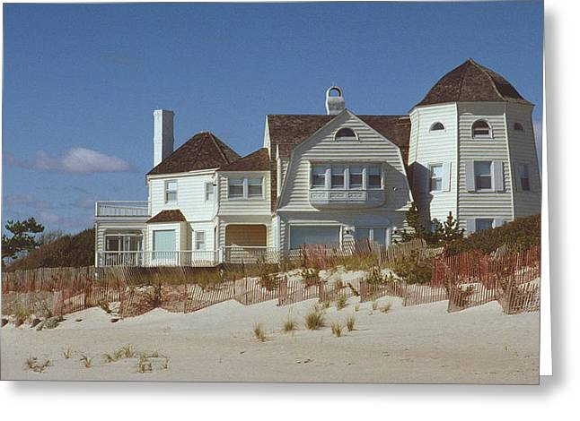 Beach House Greeting Card by Mark Greenberg