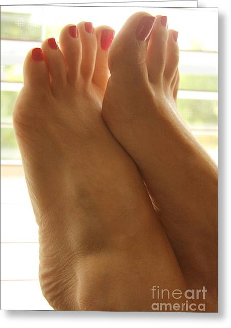 Beautiful Feet Greeting Card by Tos Photos