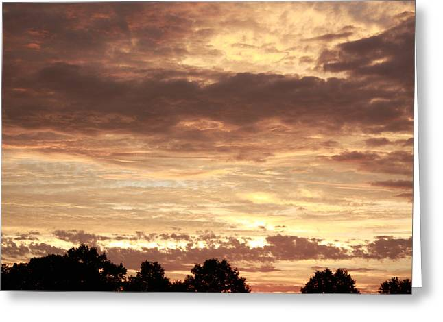 Greeting Card featuring the photograph Beautiful Sunset by Ann Murphy