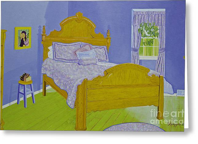 Bedroom At Elkhorn Greeting Card by Christine Belt