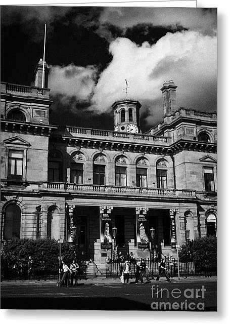 Belfast Harbour Commissioners Office Port Of Belfast Northern Ireland Uk Europe Greeting Card by Joe Fox