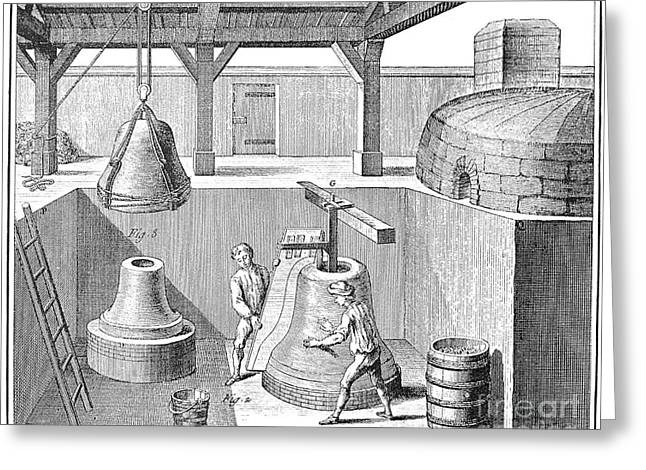 Bell Casting, 1763 Greeting Card by Granger