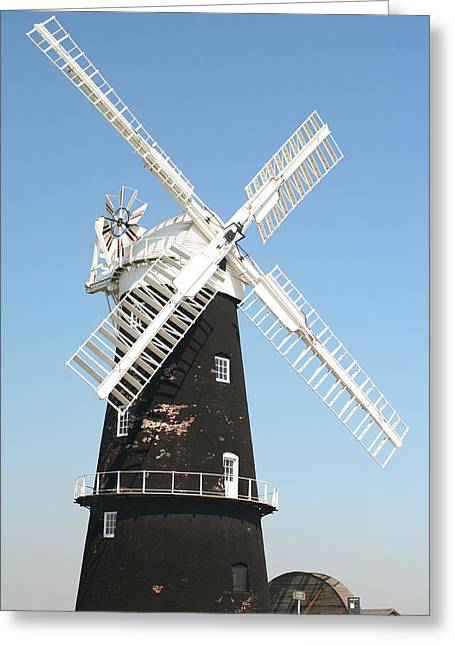 Berney Arms Watermill Greeting Card by Paul Cowan