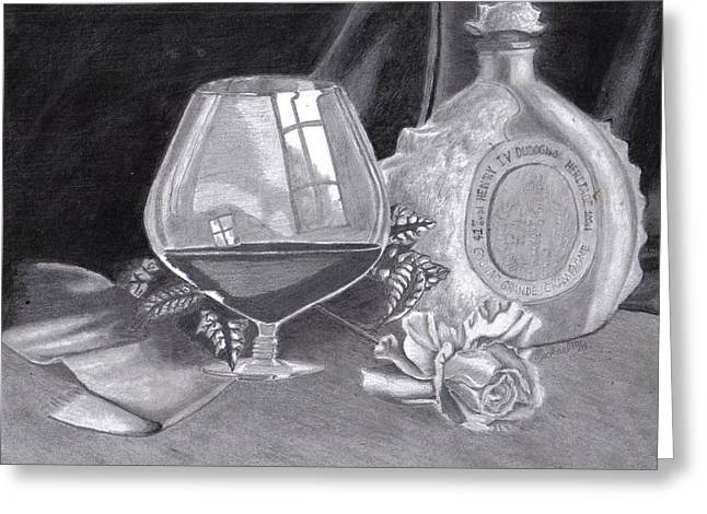 Between Friends - A 3 Million Dollar Bottle Of Cognac Greeting Card by Mickael Bruce