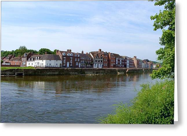 Bewdley Quay Greeting Card by Ed Lukas
