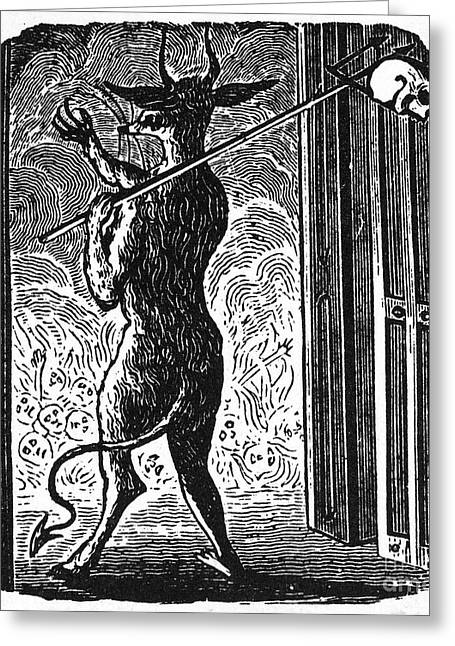 Bewick: Devil Greeting Card by Granger