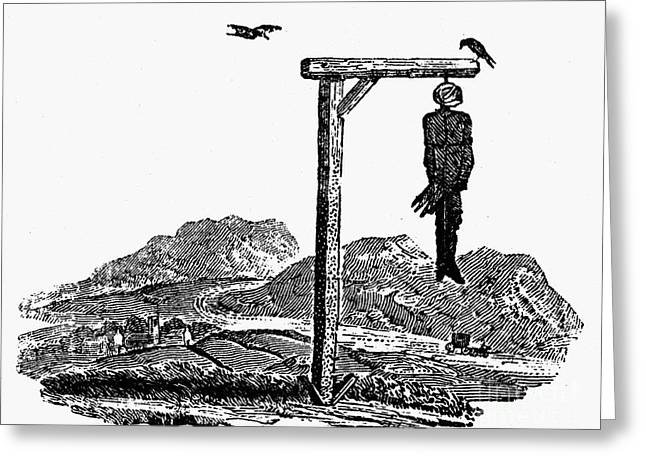 Bewick: Hanged Man Greeting Card by Granger