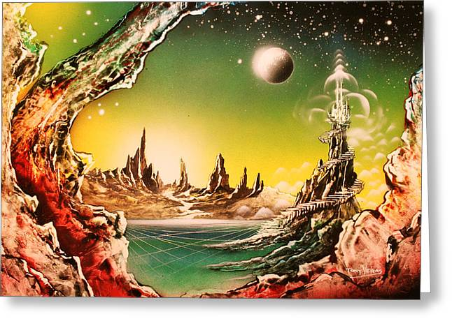 Beyond Earth Greeting Card by Tony Vegas