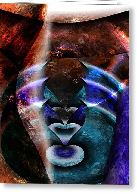 Beyond The Mask Greeting Card by Christopher Gaston