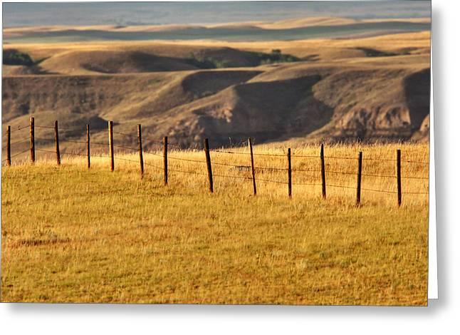 Big Muddy Valley Of Saskatchewan Greeting Card