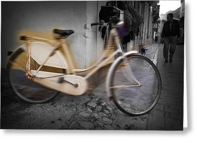 Bike Greeting Card by Charles Stuart
