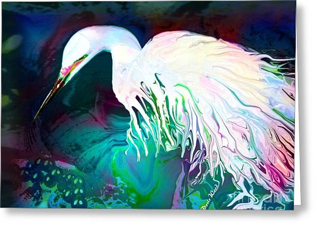 Bird Of Paradise Greeting Card by Doris Wood
