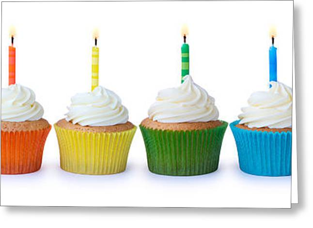Birthday Cupcakes Greeting Card by Ruth Black