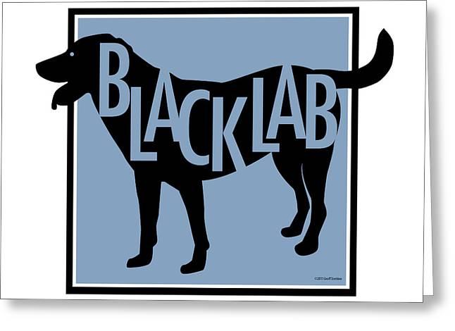 Black Lab Greeting Card by Geoff Strehlow