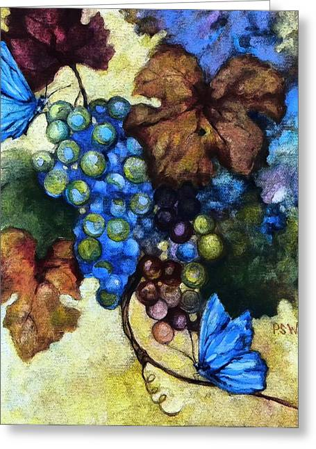 Blue Butterflies  Greeting Card by Peggy Wilson