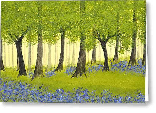 Bluebell Grove Greeting Card