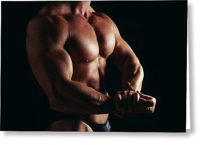 Body Builder Greeting Card