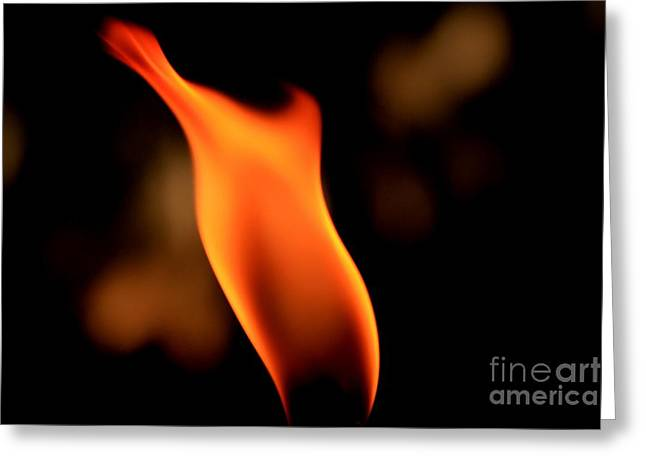 Body Of Fire 2 Greeting Card by Arie Arik Chen