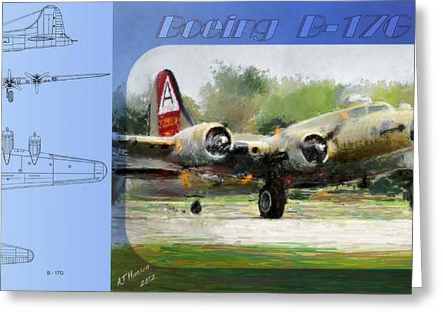 Boeing B-17-g Greeting Card