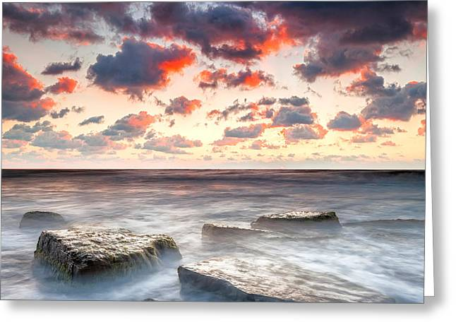 Boiling Sea Greeting Card by Evgeni Dinev