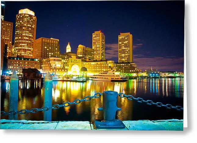 Boston Harbor Hotel Greeting Card by Erica McLellan